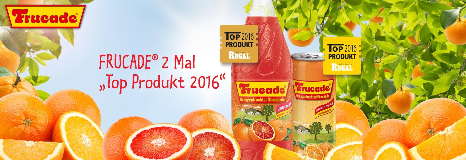 "FRUCADE®  mit Doppelerfolg bei Innovationswettbewerb ""Top Produkt 2016"""