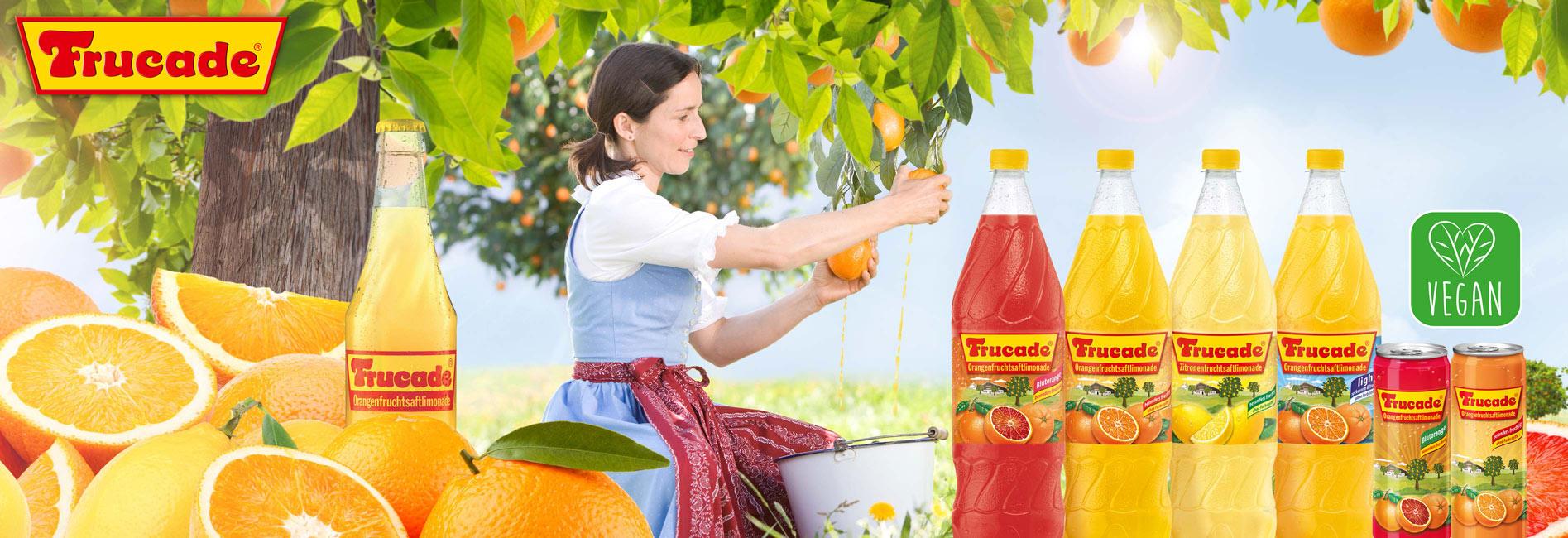 FRUCADE® Fruchtsaftlimonade