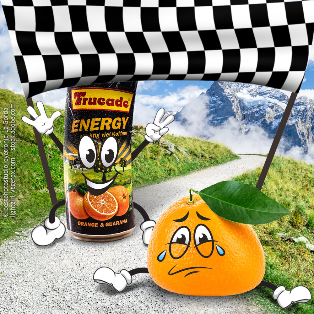 Orange beim Marathon