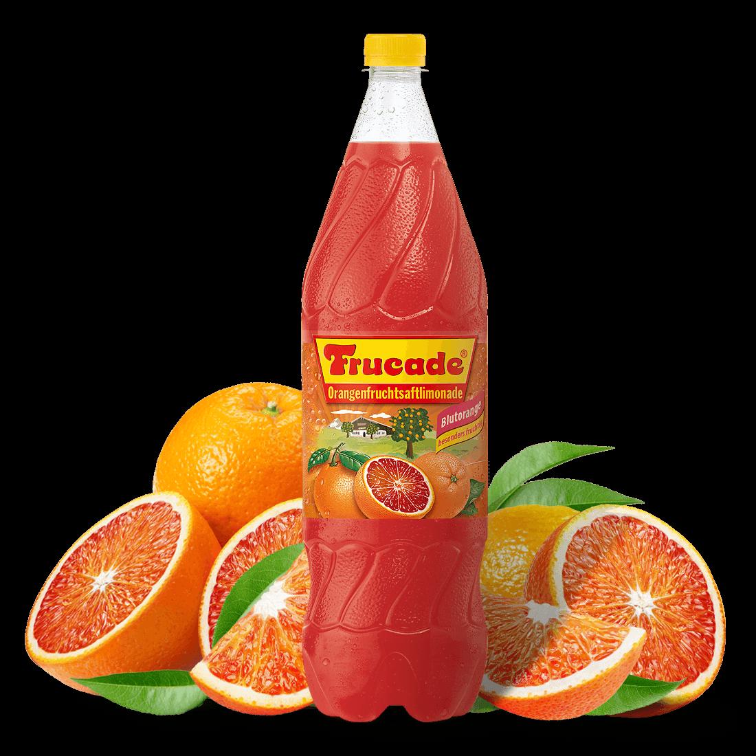 Blutorangenfruchtsaftlimonade