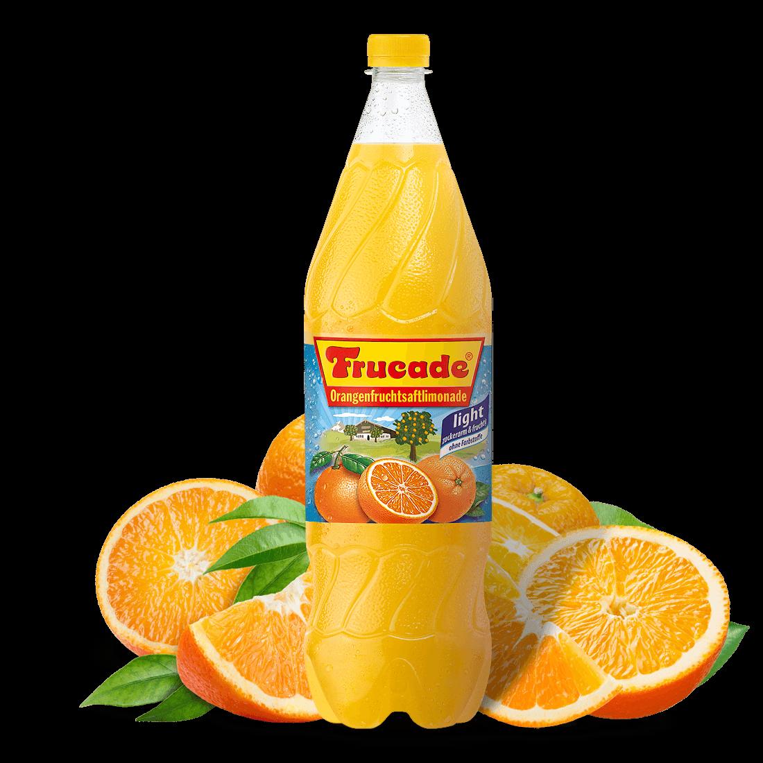 Orangenfruchtsaftlimonade Light